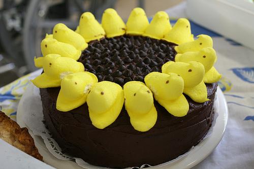 peep sunflower cake recipe