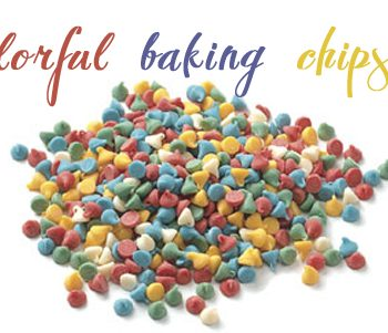 colorful baking chips