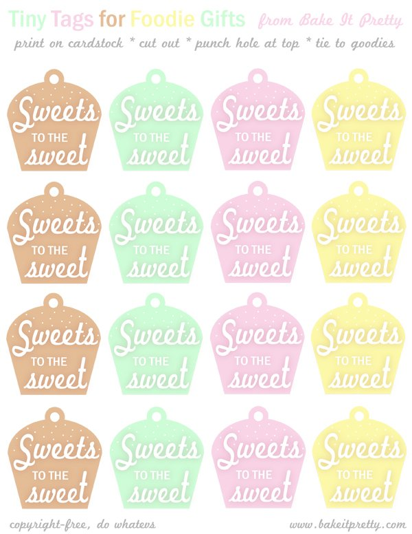 sweet free printable tags