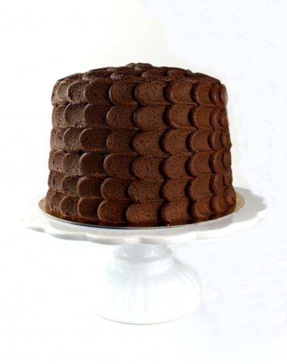 finished decorated cake