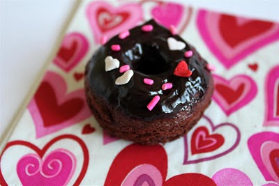 chocolate glazed doughnuts for valentine's day