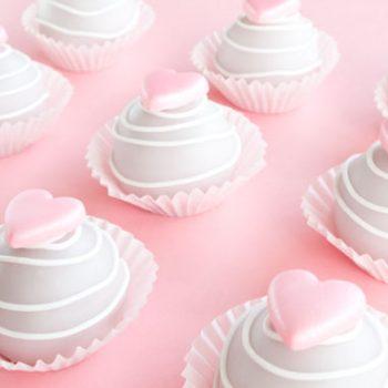 valentine cake bite