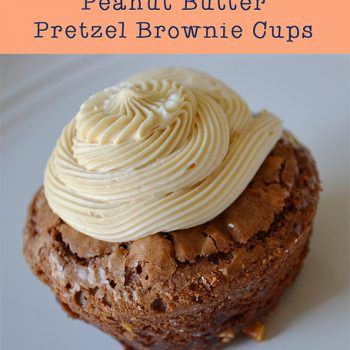 Peanut Butter Pretzel Brownie Cups