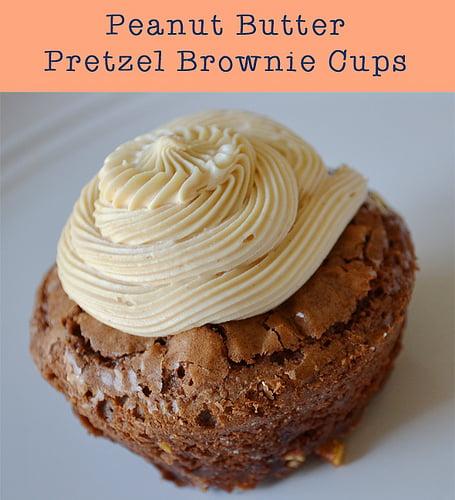 Peanut Butter Pretzel Brownie Cups