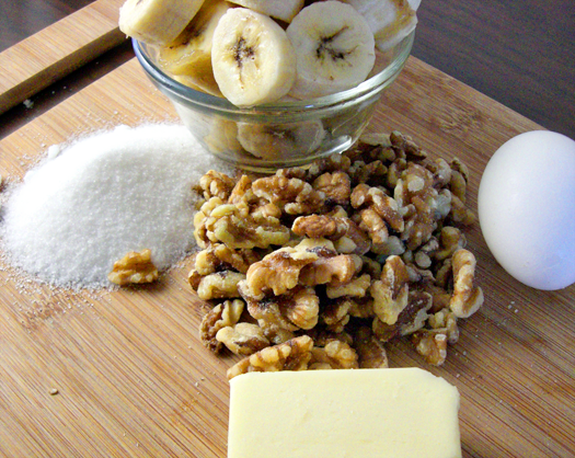 Ingredients for Banana Walnut Bread