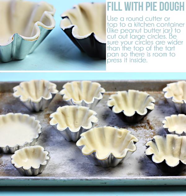 Tutorial for making mini pies with tart and brioche pans!