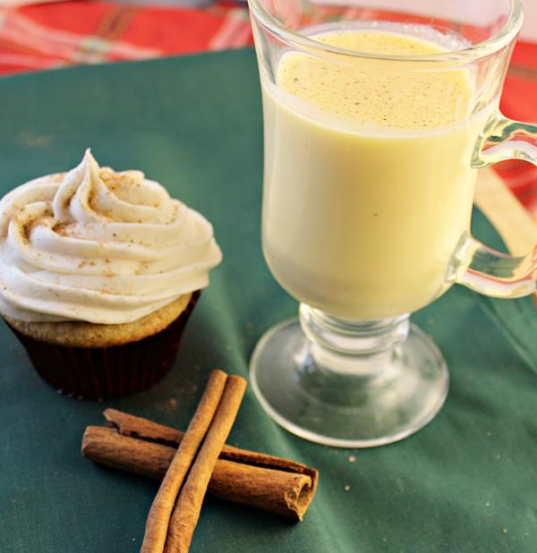 Eggnog Spice Holiday Cupcakes