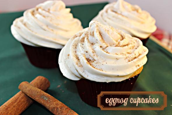Eggnog Spice Cupcakes
