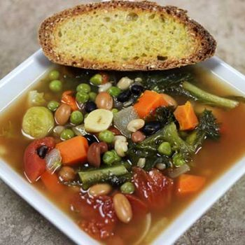 Quick and Easy Vegetable Bean Soup. Click for recipe from Spiced!