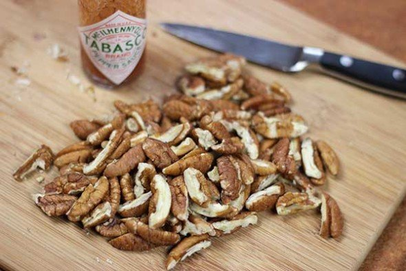 Cajun Spiced Pecans--click for recipe from Spiced!