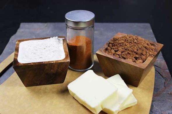 Burnin' Love Cupcake--flour, butter, cocoa powder, and ... cayenne!