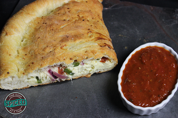 How to Make an Amazing Homemade Calzone--click for recipe from Spiced!