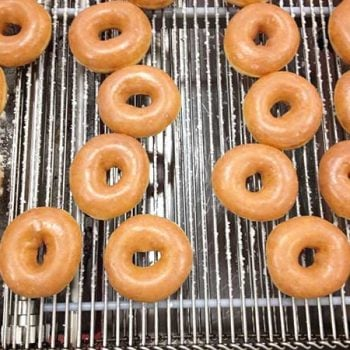 Krispy Kreme doughnuts getting ready for a Glaze shower!