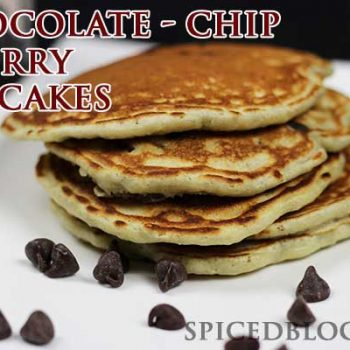 Chocolate Chip Cherry Pancakes