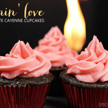 Make your Valentine some Burning Love cupcakes! They have a secret ingredient!