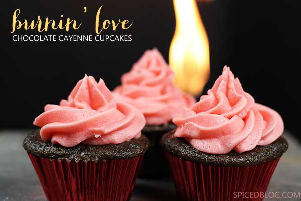 Burnin' Love: Chocolate Cayenne Cupcakes