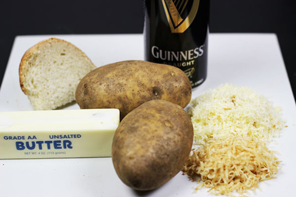 Guinness Potatoes au Gratin...that's right, potatoes, cheese, AND Guinness! Click for recipe from Spiced.