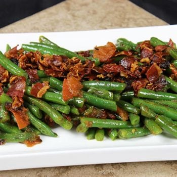 Green Beans + Tomatoes + Pancetta = Delicious (and easy!) Side Dish. Click for recipe from Spiced!