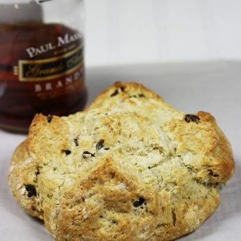 Irish Soda Bread with Brandy-Soaked Raisins--click for recipe from Spiced!
