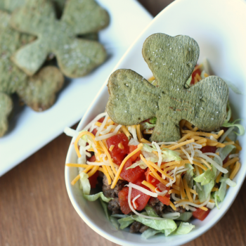 St. Patrick's Day Shamrock Tortilla Chips!