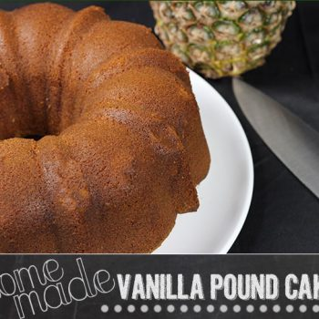 Homemade Pound Cake with Seared Pineapple * Honey Sauce for National Pound Cake Day!