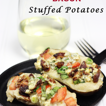 Blue Cheese + Bacon Stuffed Potatoes