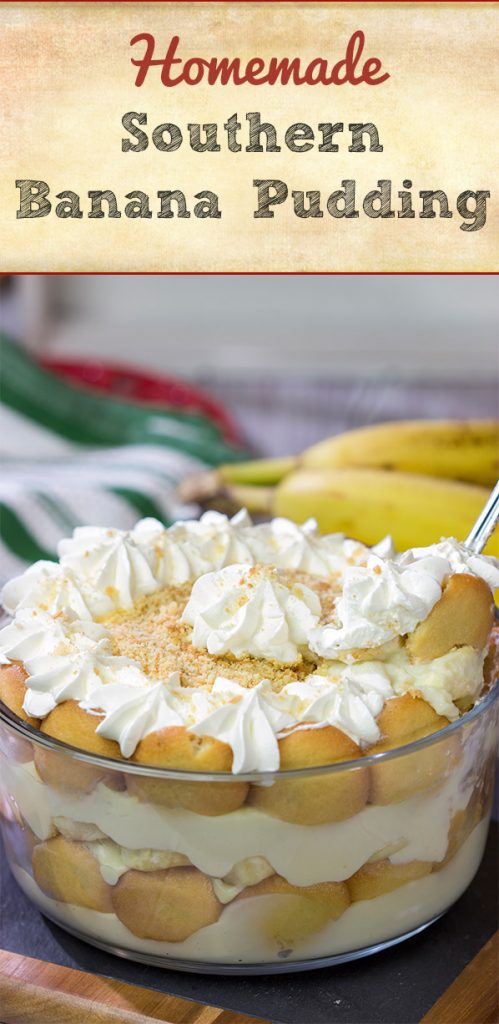 """This {Homemade Southern Banana Pudding} is a classic dessert…and it's super easy to make!  It'll leave your family and friends begging for your """"secret family recipe!"""""""