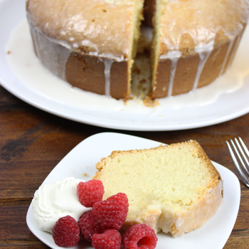 Peach Bellini Pound Cake