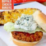 Spicy Buffalo Chicken Burgers with King's Hawaiian Buns