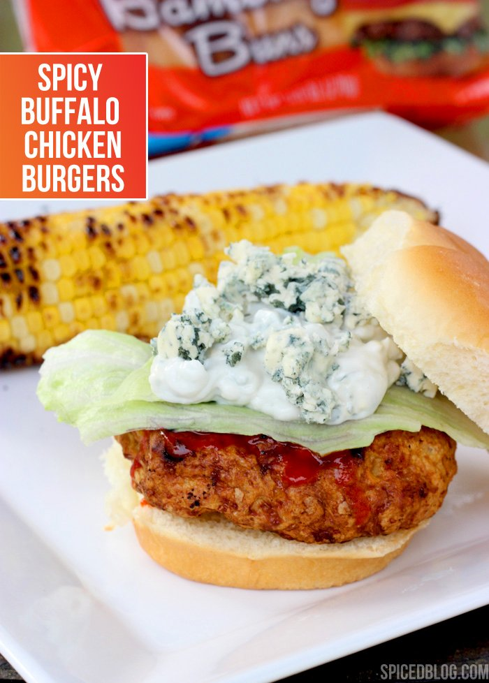 Spicy Buffalo Chicken Burgers - taste JUST like the wings!