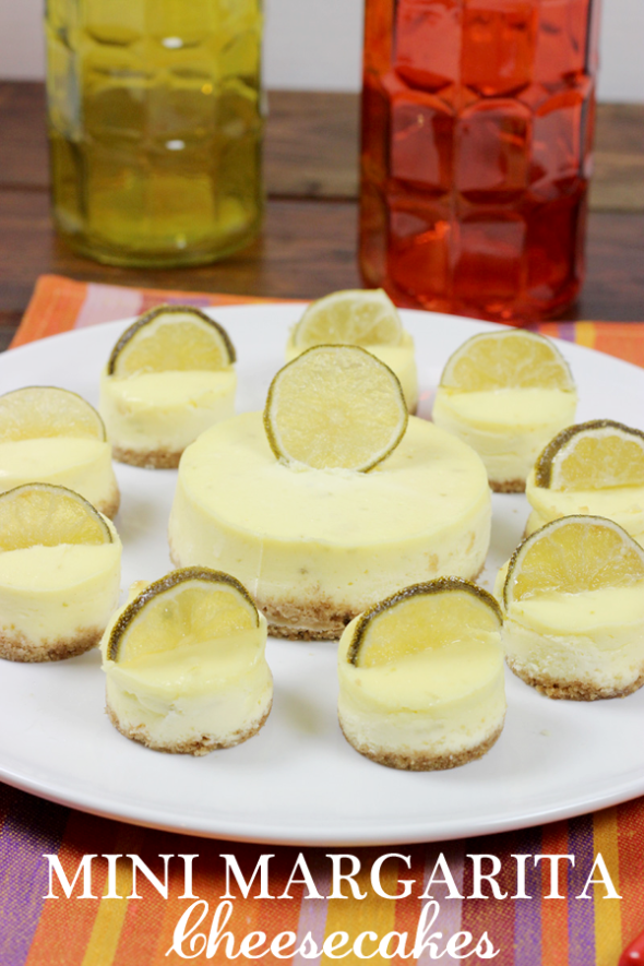 Margarita Cheesecake from spicedblog.com. Perfect for Cinco de Mayo! #cincodemayo #margarita #tequila #lime