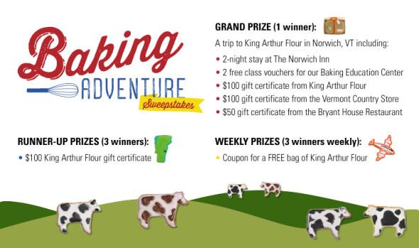King Arthur Flour Baking Adventure Sweepstakes