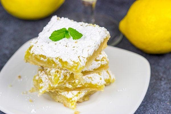 Lemon Coconut Bars. These taste like summer on a plate! #lemon #summer #dessert