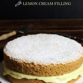 Olive Oil Cake with Lemon Cream Filling #littlethings