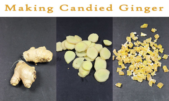 Making Candied Ginger