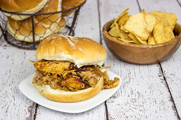 Pulled Pork Sandwich: This is one of my top 3 favorite summer recipes of all time! The pork shoulder is slow-cooked in a smoker all day, and it's absolutely delicious!