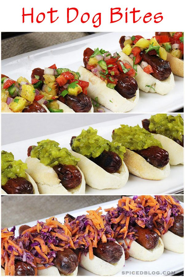 Party Pups: Asian, Spanish, and American Inspired Hot Dog Bites