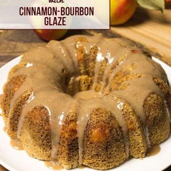 Apple Cake + Cinnamon Bourbon Glaze