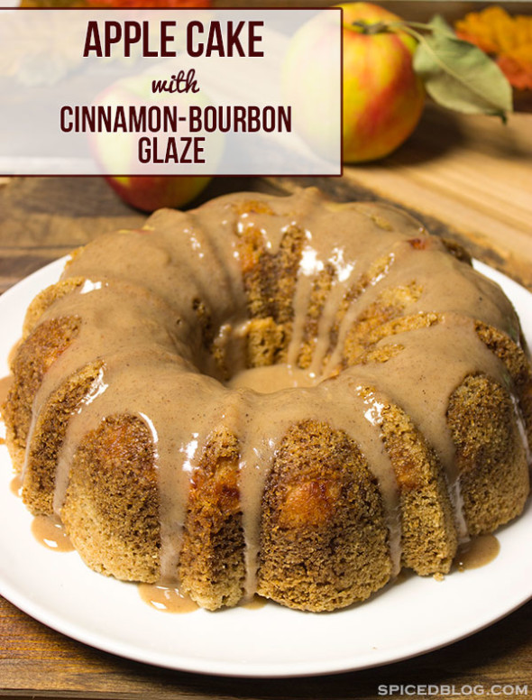 PERFECT FOR FALL! Apple Cake with Cinnamon Bourbon Glaze