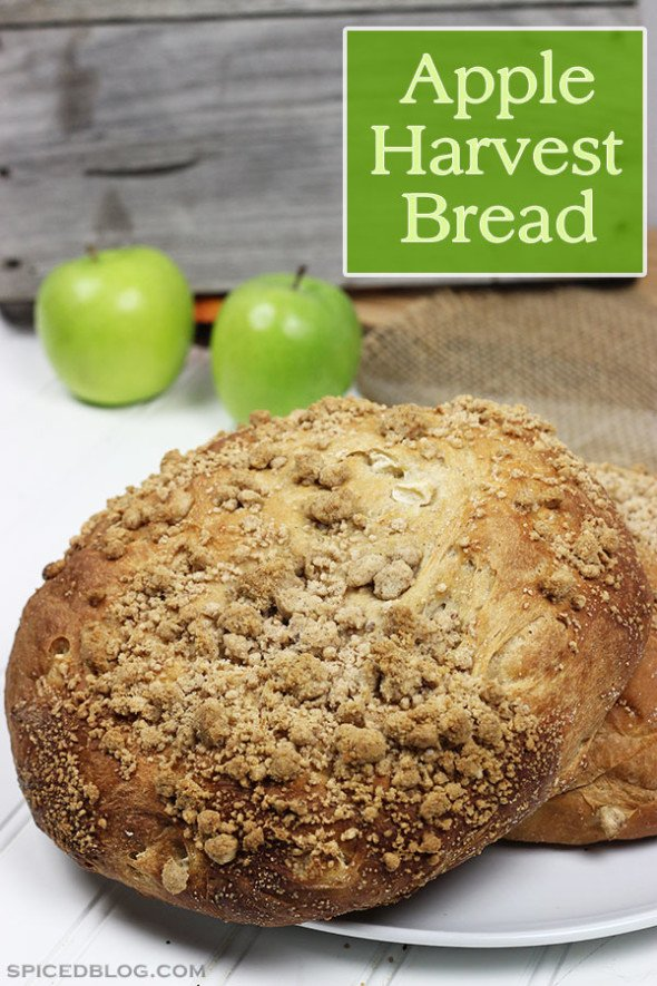 Apple Harvest Bread: PERFECT for toast or Autumn-themed sandwiches!