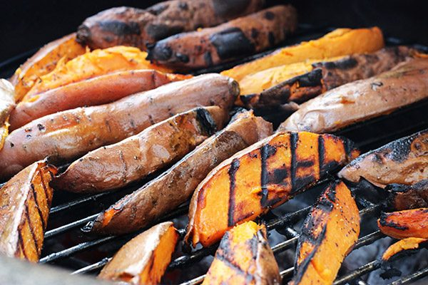 Cilantro Lime Grilled Sweet Potatoes