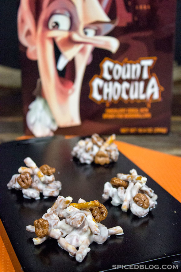 EASY HALLOWEEN TREAT IDEA!! Count Chocula Cereal Clusters