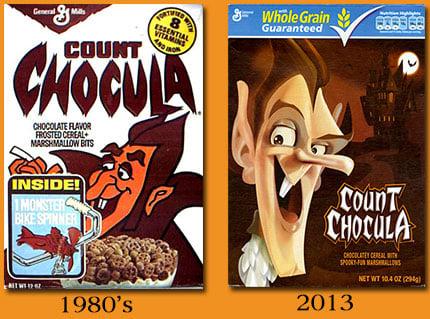 Count Chocula 1980s vs 2013