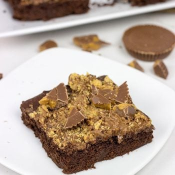 Double Chocolate Peanut Butter Cup Brownies