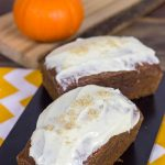 Pumpkin Bread + Brown Sugar Cream Cheese Frosting