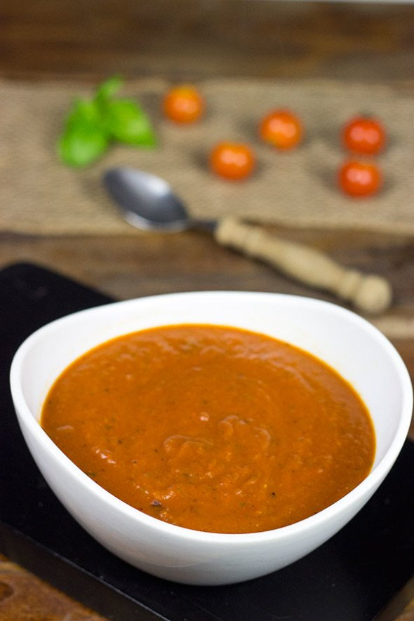 Homemade Tomato Basil Bisque