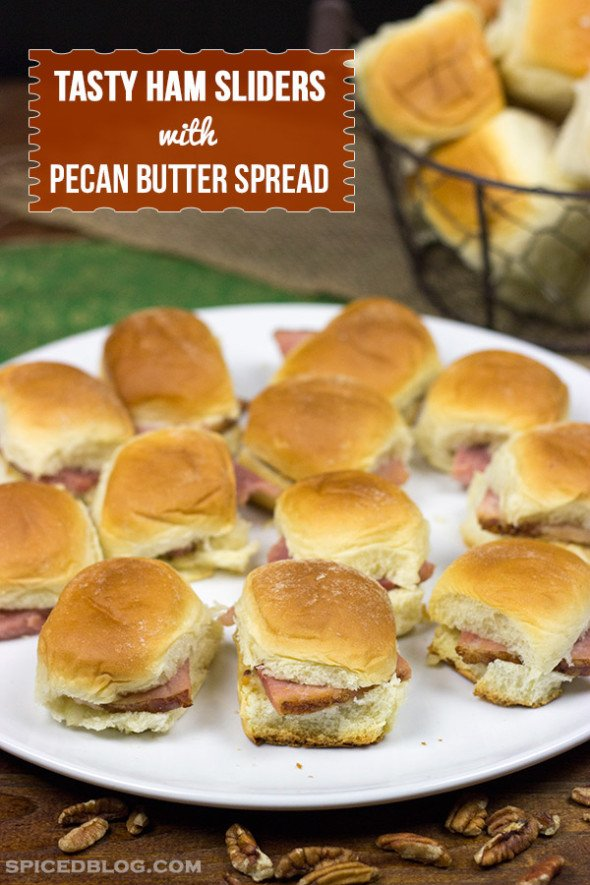 Tasty Ham Sliders with Pecan Butter Spread #HolidayButter #shop