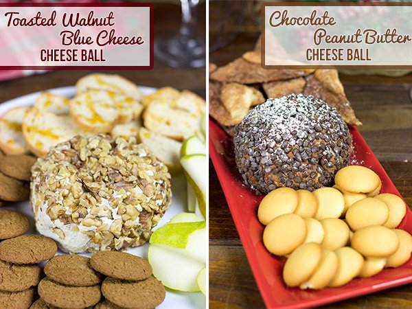 Cheese Ball Duo: One for the Kids (Chocolate Peanut Butter) and one for the Adults (Toasted Walnut Blue Cheese) #shop #HolidayAdvantEdge and #cbias
