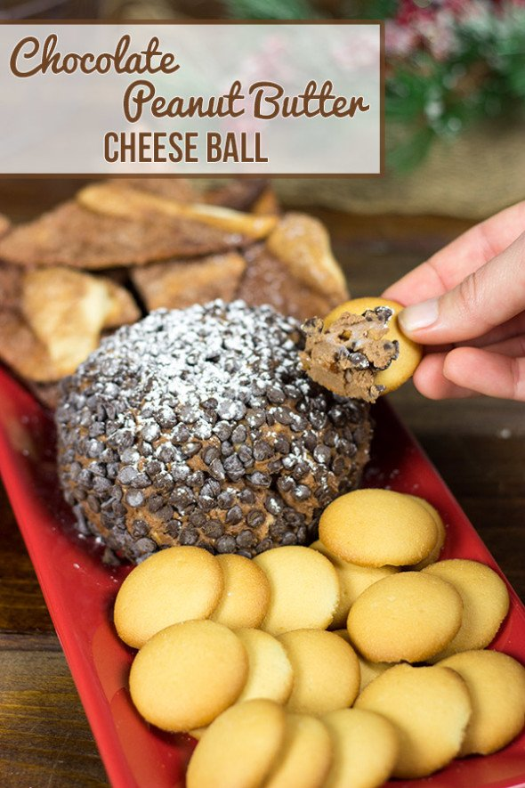 Chocolate Peanut Butter Cheese Ball #shop #HolidayAdvantEdge and #cbias