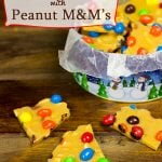 Crunchy Peanut Brittle with Peanut M&Ms